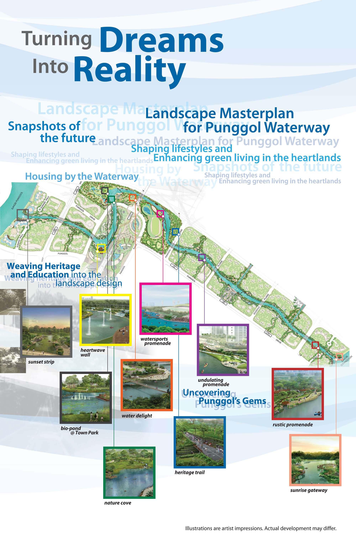 Punggol Waterway: Punggol 21 Landscape Masterplan : Punggol Waterway ...
